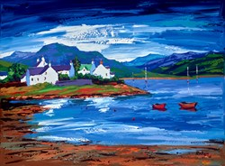 Boats in the Bay III by Lynn Rodgie -  sized 28x20 inches. Available from Whitewall Galleries
